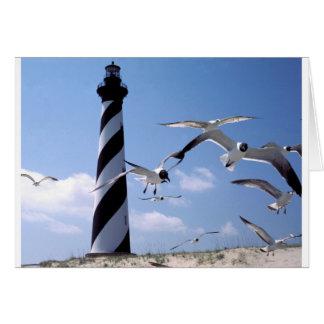 ハッテラス岬の灯台ノースカロライナの灯台 グリーティングカード