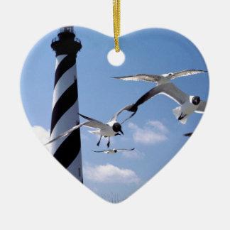 ハッテラス岬の灯台ノースカロライナの灯台 セラミックオーナメント