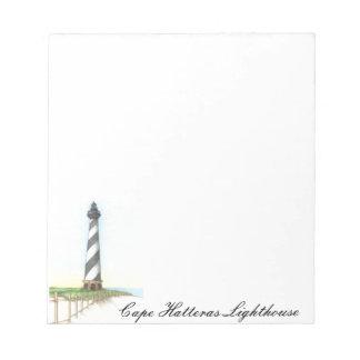 ハッテラス岬の灯台メモ帳 ノートパッド