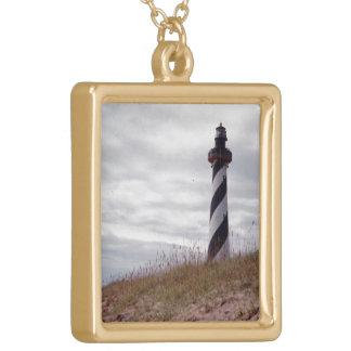 ハッテラス岬の灯台 ゴールドプレートネックレス