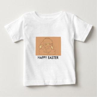 ハッピーイースターのウサギのワイシャツ ベビーTシャツ