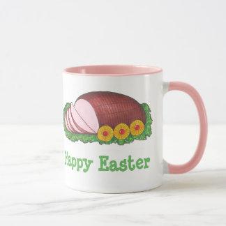 ハッピーイースターのピンクによって艶をかけられる休日のハムのグルメのマグ マグカップ