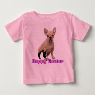 ハッピーイースターのフレンチ・ブルドッグの幼児のTシャツ ベビーTシャツ