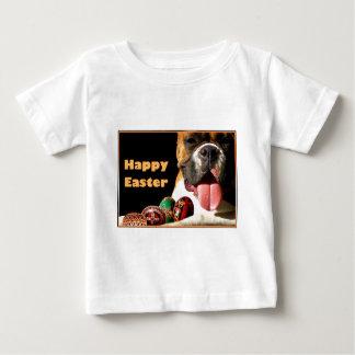 ハッピーイースターのボクサーの幼児のTシャツ ベビーTシャツ