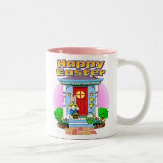 ハッピーイースターのマグ ツートーンマグカップ