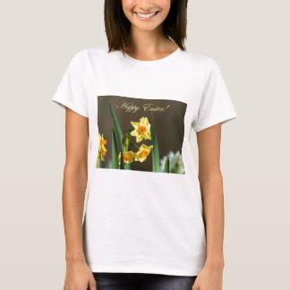 ハッピーイースターのラッパスイセンのTシャツ Tシャツ