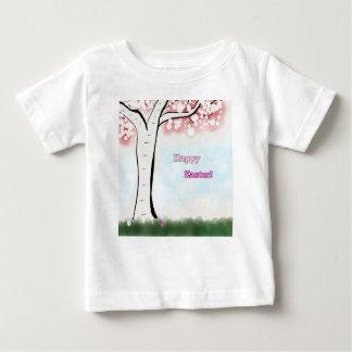 ハッピーイースターの乳児のティー ベビーTシャツ