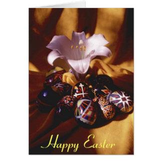 ハッピーイースターの挨拶のCard~Easter卵かユリ カード