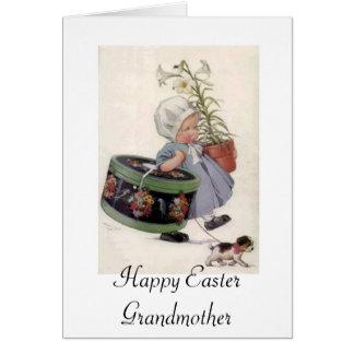 ハッピーイースターの祖母-挨拶状 グリーティングカード