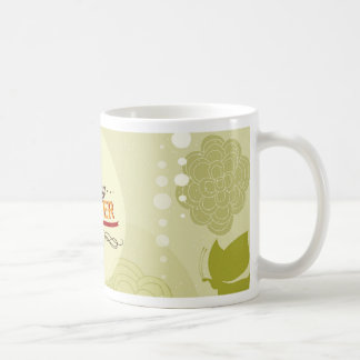 ハッピーイースターの緑 コーヒーマグカップ