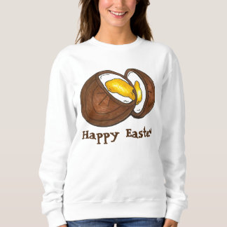 ハッピーイースターチョコレートクリームクリームの卵のスエットシャツ スウェットシャツ