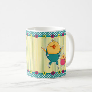 ハッピーイースター。 おもしろいなイースターひよこのギフトのマグ コーヒーマグカップ