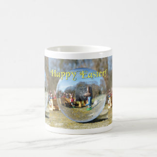 ハッピーイースター! イースターのウサギの学校02.3.3T コーヒーマグカップ