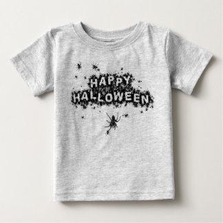 ハッピーハローウィンのくもの乳児のTシャツ ベビーTシャツ