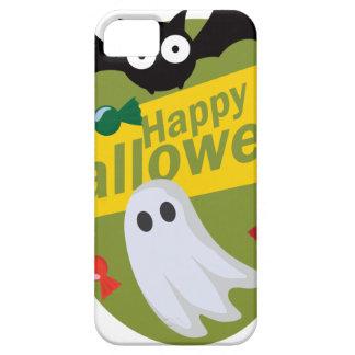 ハッピーハローウィンのこうもりおよび幽霊 iPhone SE/5/5s ケース