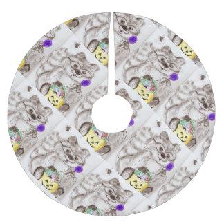 ハッピーハローウィンのアライグマ ブラッシュドポリエステルツリースカート