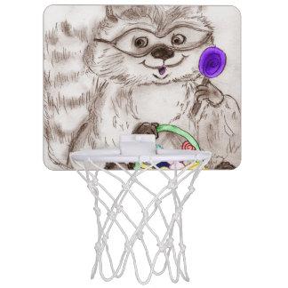 ハッピーハローウィンのアライグマ ミニバスケットボールゴール