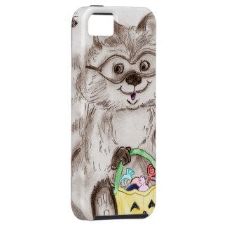 ハッピーハローウィンのアライグマ iPhone SE/5/5s ケース