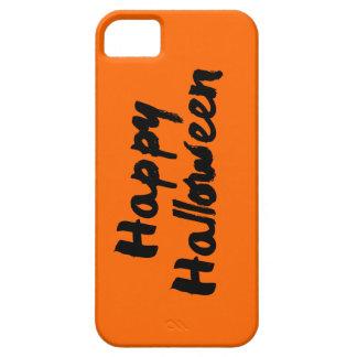 ハッピーハローウィンのオレンジ黒いブラシの打撃 iPhone SE/5/5s ケース