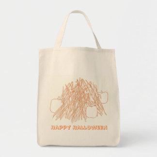 ハッピーハローウィンのカボチャ及びトウモロコシの茎のバッグ トートバッグ