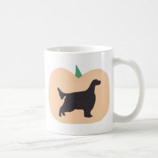 ハッピーハローウィンのカボチャ英国セッター コーヒーマグカップ