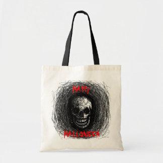 ハッピーハローウィンのバッグのスカルの黒 トートバッグ
