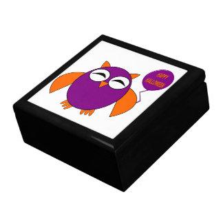 ハッピーハローウィンのパーティーのフクロウのギフト用の箱 ギフトボックス