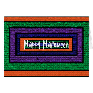 ハッピーハローウィンのモザイクカード カード