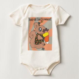 ハッピーハローウィンのワイシャツ ベビーボディスーツ