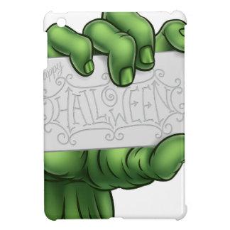 ハッピーハローウィンの印を握るゾンビモンスター手 iPad MINIケース