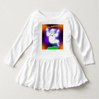 ハッピーハローウィンの幽霊のベビーのTシャツ ドレス