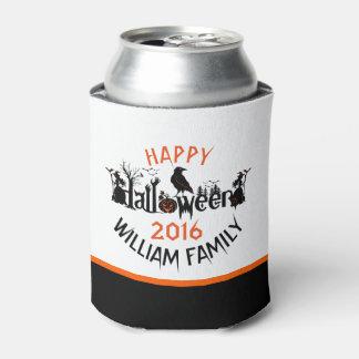 ハッピーハローウィンの気味悪い概念の文字 缶クーラー