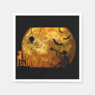 ハッピーハローウィンの満月 スタンダードカクテルナプキン