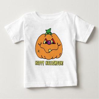 ハッピーハローウィンの男の子のカボチャTシャツ ベビーTシャツ
