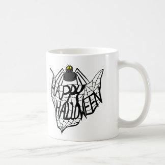 ハッピーハローウィンの蜘蛛の巣のコーヒー・マグ コーヒーマグカップ