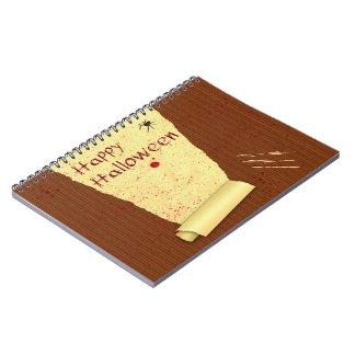 ハッピーハローウィンの血の壁紙-ノート ノートブック
