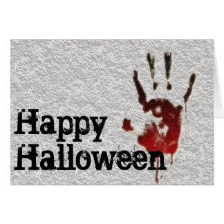 ハッピーハローウィンの血Handprint カード