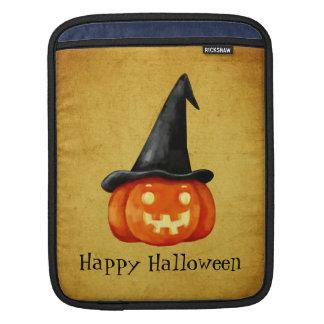 ハッピーハローウィンの魔法使いのカボチャ iPadスリーブ