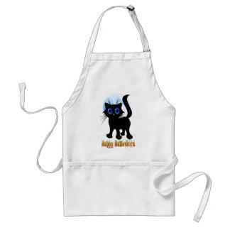 ハッピーハローウィンの黒い子ネコのエプロン スタンダードエプロン