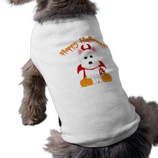 ハッピーハローウィンのWestieの悪魔 ペット服