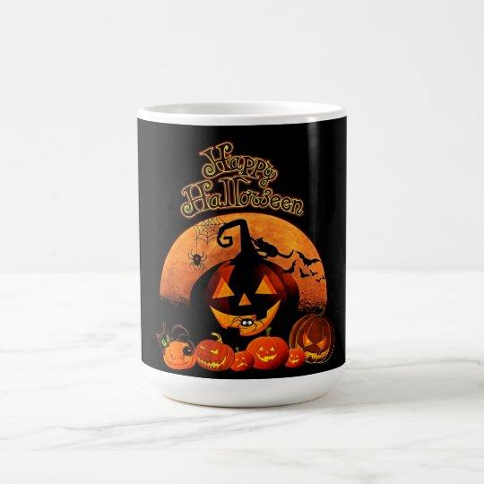 ハッピーハローウィンハロウィーンのカボチャのちょうちん コーヒーマグカップ