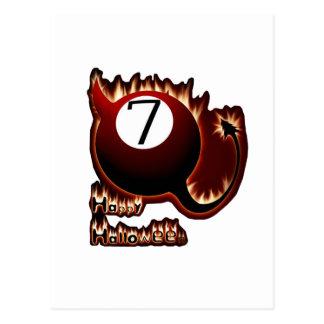 ハッピーハローウィン7の球の悪魔 ポストカード