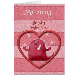ハッピーバレンタインデーのお母さんは私のバレンタインです カード