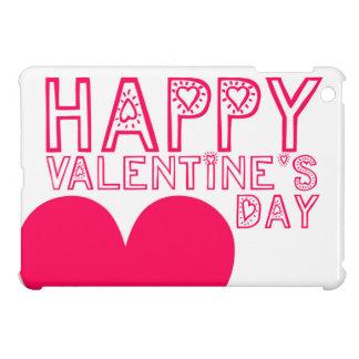 ハッピーバレンタインデーのかわいいタイポグラフィ iPad MINIカバー