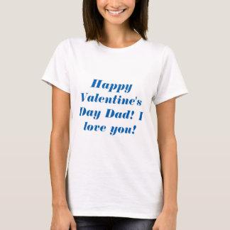 ハッピーバレンタインデーのパパ Tシャツ