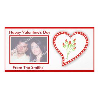 ハッピーバレンタインデーの写真カード カード