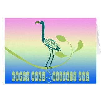 ハッピーバレンタインデーの熱帯鳥の挨拶状 カード
