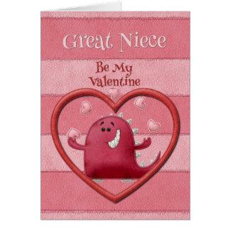 ハッピーバレンタインデーの甥/姪の娘は私のバレンタインです カード