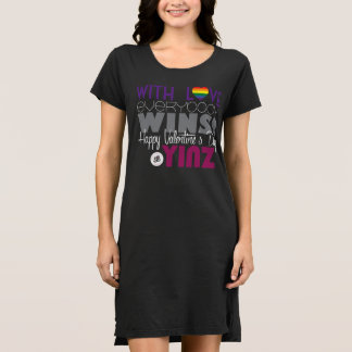 ハッピーバレンタインデーのYinzのTシャツの服-虹 ドレス