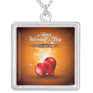 ハッピーバレンタインデー4のネックレス シルバープレートネックレス